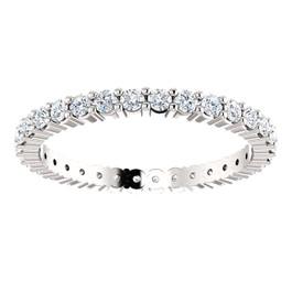 5/8 ct Diamond Eternity Wedding Ring Platinum (H-I, I1)