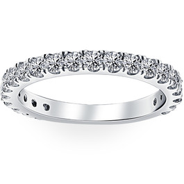 1 ct Diamond Wedding Ring 14k White Gold Womens Anniversary Stackable Jewelry (G-H, I1-I2)