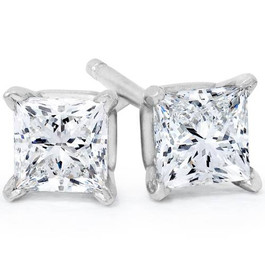 1/2CT Princess Cut Diamonds 14K (I2-I3)