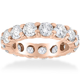 5 1/2ct Diamond Eternity Ring 14K Rose Gold (G/H, SI1-SI2)