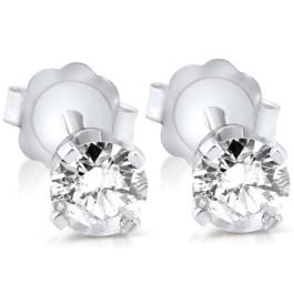 3/8ct Diamond Studs 14K White Gold (H-I, I2-I3)