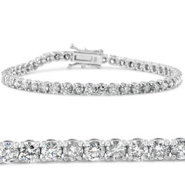 6ct TDW Diamond Tennis Bracelet 14K White Gold 7 Inches (G, I1-I2)