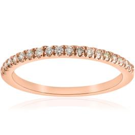 1/4ct Diamond Wedding Ring 10k Rose Gold (H/I, I1-I2)