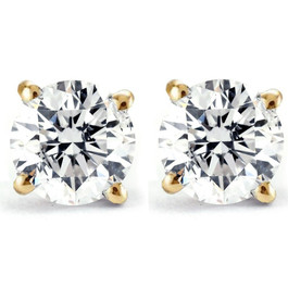 1/2ct Diamond Studs 14K Yellow Gold (G/H, I2)