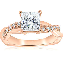 1 1/6ct Princess Cut Diamond Infinity Engagement Ring ((G-H), SI(1)-SI(2))