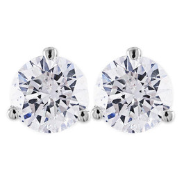 2 ct Round Solitaire Diamond Martini Studs 14k White Gold ((G-H), SI(1)-SI(2))