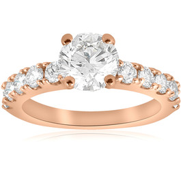 2 CT Diamond Engagement Ring 14k Rose Gold ((G-H), SI(1)-SI(2))