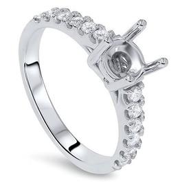 1/2ct SI Diamond Engagement Ring Mount 14K White Gold (G/H, SI1-SI2)