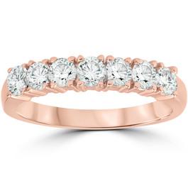 1ct Diamond Rose Gold Wedding Anniversary Ring 14K (G/H, I1-I2)