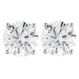 1 1/2CT Diamond Screw Back Studs Platinum ((G-H), SI(1)-SI(2))
