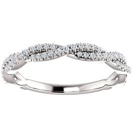 1/5ct Diamond Vine Wedding Ring in 14k White Gold (H/I, I1-I2)