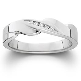 Mens Diamond Wedding Ring 10K White Gold (I/J, I2-I3)