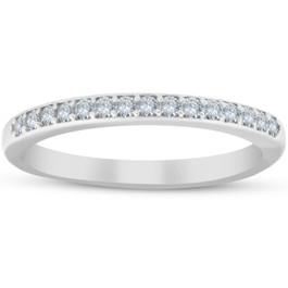 1/4ct Diamond Wedding Ring 10k White Gold (H/I, I1-I2)