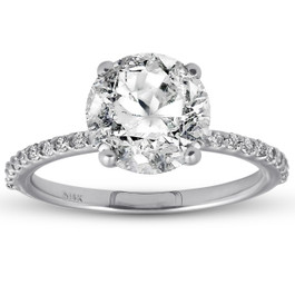 3 1/4ct Diamond Engagement Ring 14k White Gold (I/J, I2-I3)