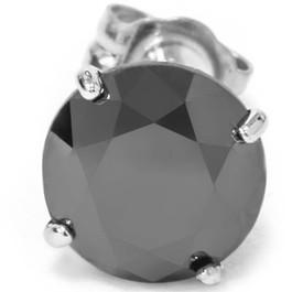 3/8ct Black Diamond Stud 10K White Gold (Black, AAA)