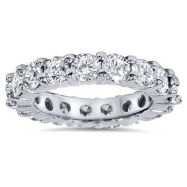 4ct Diamond Eternity Wedding Ring 950 Platinum (G/H, I1)