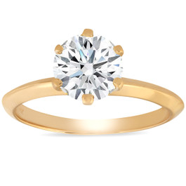 1 1/4 Ct Diamond Solitaire Engagement Ring 14k Yellow Gold (I/J, I2-I3)