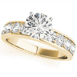 2 Ct Round Cut Diamond Engagement Solitaire Ring 14k Yellow Gold ((G-H), SI(1)-SI(2))