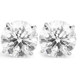 8 Ct Diamond Studs 14k White Gold (I-J, I2)
