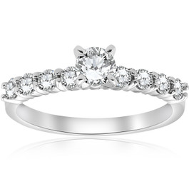 1 1/2 Ct Diamond Engagement Ring 14k White Gold (H/I, VS1-VS2)