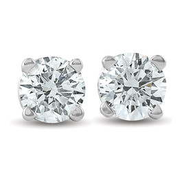 1/3 Ct TDW Diamond Studs 14K White Gold IGI Certfied Lab Created (((G-H)), I(1))