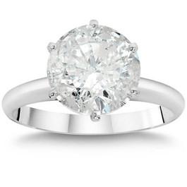 2 1/4 Ct TDW Solitaire Round Diamond 6-Prong Engagement Ring 14k White Gold (G/H, I1-I2)