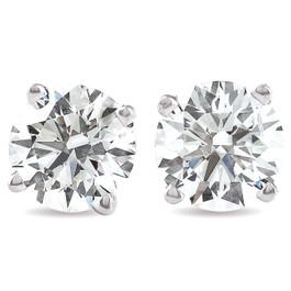 1 1/4 Ct Diamond Screw Back Studs 14k White Gold Lab Grown Eco Friendly (I, VS)