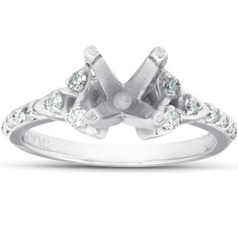 1/4Ct Diamond Celtic Engagement Ring Setting 14k White Gold Semi Mount (H/I, I1-I2)