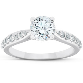 1 1/2 Ct Diamond Diamond Classic Engagement Ring 14k White Gold (G/H, SI1-SI2)