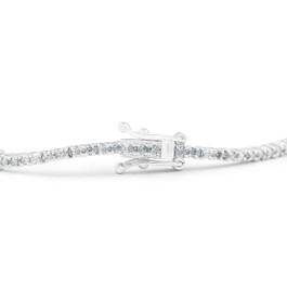 1/10 Ct Diamond & Genuine Blue Sapphire Tennis Bracelet