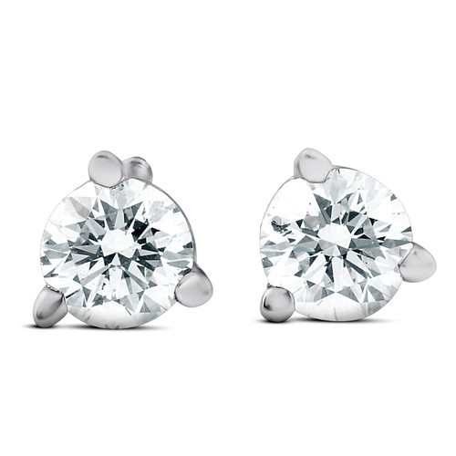 1/4 cttw Round Diamond Studs 14k White Gold Lab Grown (F, VS/SI)