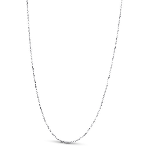 """14k White Gold 18"""" Chain With Lobster Clasp 1.6 grams"""