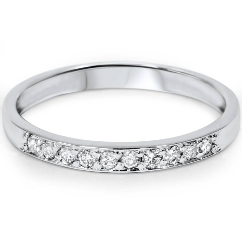1/4ct Diamond Wedding Ring 14K White Gold (G/H, I1)