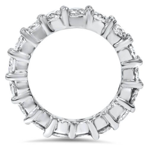4Ct Diamond Eternity Wedding Ring Lab Grown Diamonds 14k White Gold (H/I, SI1-SI2)