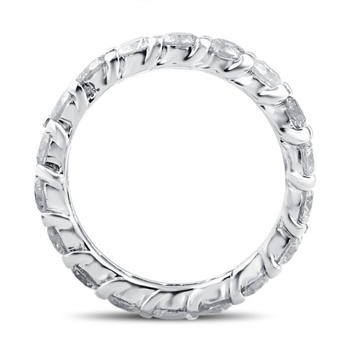 3Ct Diamond Eternity Wedding Ring Lab Grown Diamonds 14k White Gold (F, VS/SI)