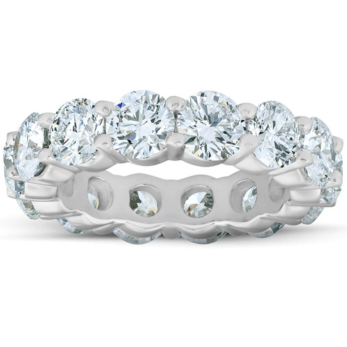 6 3/4 Ct Diamond Eternity Wedding Ring 14k White Gold Lab Grown (F, VS/SI)