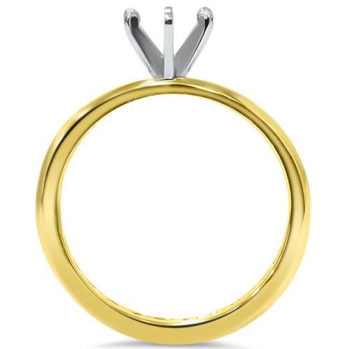 1 1/2ct Diamond Eternity Engagement Setting 14K Yellow Gold (G/H, I1-I2)