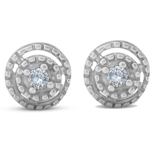 Diamond Studs 10K White Gold (G/H, I2-I3)