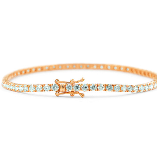 "7 1/2 ct Diamond Tennis Bracelet 14K Rose Gold 7"" (G, I2-I3)"