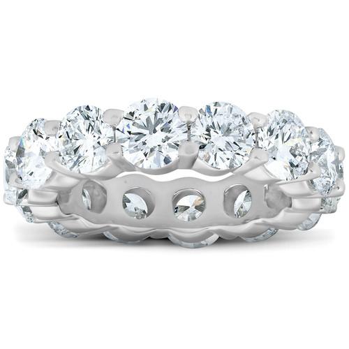 6 Ct Diamond Eternity Wedding Ring 14k White Gold (H/I, I2-I3)