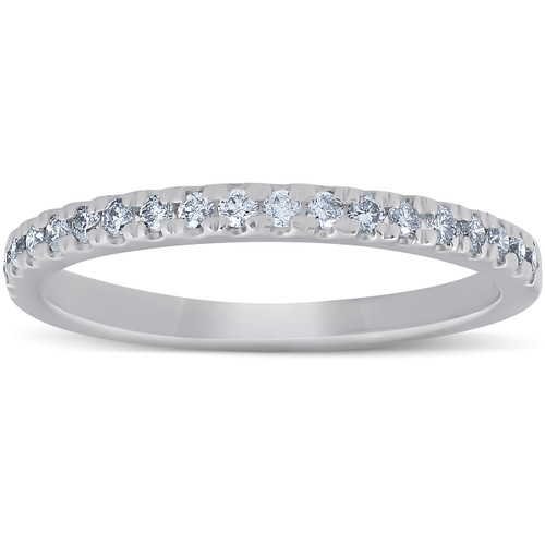 1/4 Ct Lab Grown Diamond EX3 Wedding Ring 10k White Gold (((G-H)), I(1))