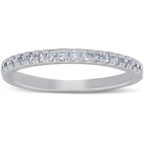 1/4 Ct Diamond Wedding Ring 10k White Gold (G/H, I1-I2)