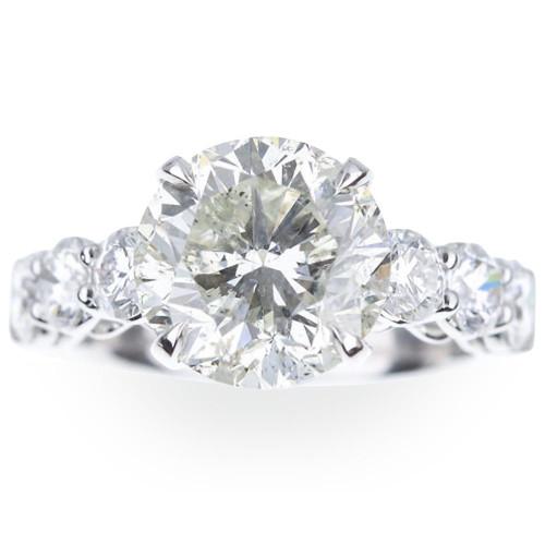 5 Ct Diamond Engagement Ring 14k White Gold (I/J, I1-I2)