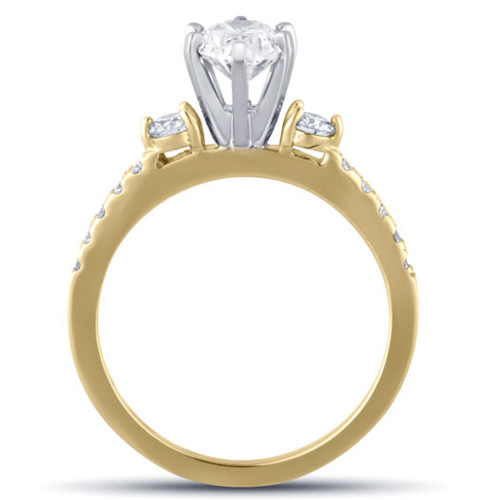 1 1/2 Ct Oval Diamond Engagement Ring 14k Yellow Gold (H/I, SI1-SI2)