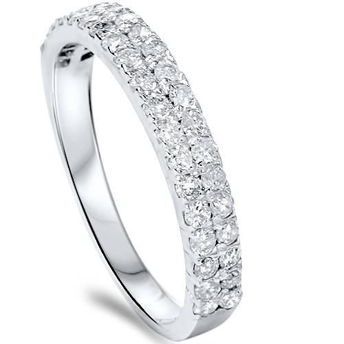 1/4ct Double Row Diamond Ring 14K White Gold (G/H, I2-I3)