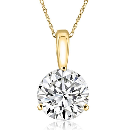 1/3Ct Certified Lab Grown Diamond Solitaire Pendant 14k Yellow Gold ((E-F), I(1))