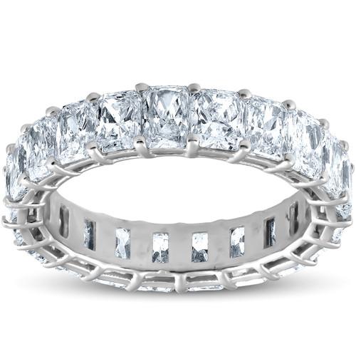 5Ct Radiant Cut Diamond Platinum Eternity Ring (F/G, VS1-VS2)