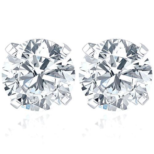 4 CT Diamond Studs 14k White Goild (IJ, I2-I3)