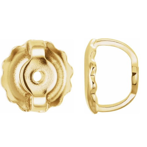 Replacement 14k Yellow Gold Screw backings