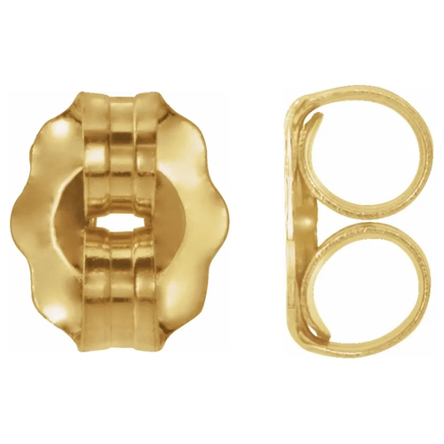 14k Yellow Gold Replacement Push Backings